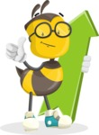 School Bee Cartoon Vector Character AKA Shelbee Sting - Pointer 1