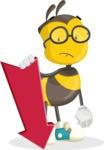School Bee Cartoon Vector Character AKA Shelbee Sting - Pointer 3