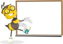 School Bee Cartoon Vector Character AKA Shelbee Sting - Presentation 3