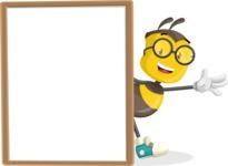 School Bee Cartoon Vector Character AKA Shelbee Sting - Presentation 4