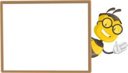 School Bee Cartoon Vector Character AKA Shelbee Sting - Presentation 5