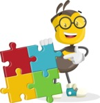 School Bee Cartoon Vector Character AKA Shelbee Sting - Puzzle
