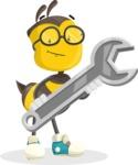 School Bee Cartoon Vector Character AKA Shelbee Sting - Repair
