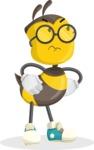 School Bee Cartoon Vector Character AKA Shelbee Sting - Roll Eyes