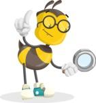 School Bee Cartoon Vector Character AKA Shelbee Sting - Search