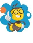School Bee Cartoon Vector Character AKA Shelbee Sting - Shape 1