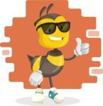 School Bee Cartoon Vector Character AKA Shelbee Sting - Shape 10
