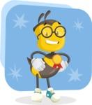 School Bee Cartoon Vector Character AKA Shelbee Sting - Shape 11