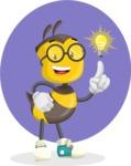 School Bee Cartoon Vector Character AKA Shelbee Sting - Shape 12
