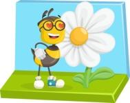 School Bee Cartoon Vector Character AKA Shelbee Sting - Shape 5