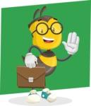 School Bee Cartoon Vector Character AKA Shelbee Sting - Shape 8