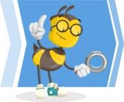 School Bee Cartoon Vector Character AKA Shelbee Sting - Shape 9