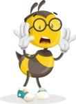 School Bee Cartoon Vector Character AKA Shelbee Sting - Shocked