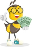 School Bee Cartoon Vector Character AKA Shelbee Sting - Show me the Money
