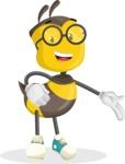 School Bee Cartoon Vector Character AKA Shelbee Sting - Show