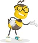 School Bee Cartoon Vector Character AKA Shelbee Sting - Show2