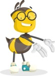 School Bee Cartoon Vector Character AKA Shelbee Sting - Showcase 2