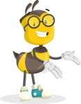 School Bee Cartoon Vector Character AKA Shelbee Sting - Showcase