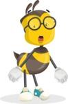 School Bee Cartoon Vector Character AKA Shelbee Sting - Stunned