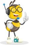 School Bee Cartoon Vector Character AKA Shelbee Sting - Support 2