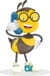 School Bee Cartoon Vector Character AKA Shelbee Sting - Support