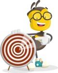School Bee Cartoon Vector Character AKA Shelbee Sting - Target