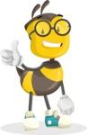 School Bee Cartoon Vector Character AKA Shelbee Sting - Thumbs Up