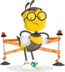 School Bee Cartoon Vector Character AKA Shelbee Sting - Under Construction 2