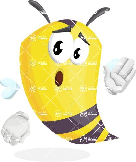 Bee Cartoon Vector Character AKA Mr. Bee Busy - Bored