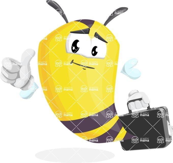 Bee Cartoon Vector Character AKA Mr. Bee Busy - Brifcase 1