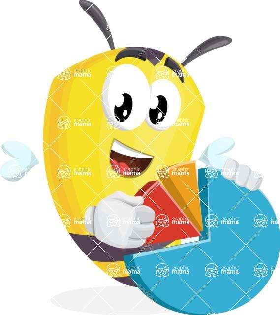 Bee Cartoon Vector Character AKA Mr. Bee Busy - Chart