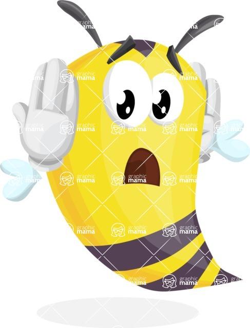 Bee Cartoon Vector Character AKA Mr. Bee Busy - Confused