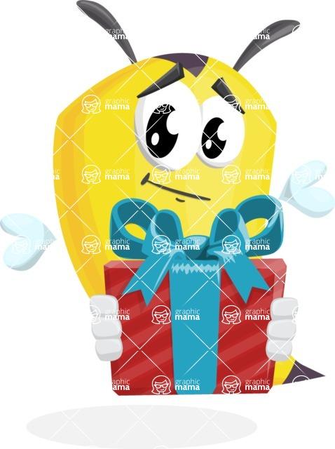 Bee Cartoon Vector Character AKA Mr. Bee Busy - Gift