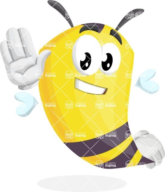 Bee Cartoon Vector Character AKA Mr. Bee Busy - Hello