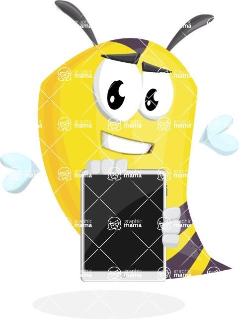 Bee Cartoon Vector Character AKA Mr. Bee Busy - iPad 1