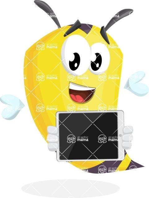 Bee Cartoon Vector Character AKA Mr. Bee Busy - iPad 2