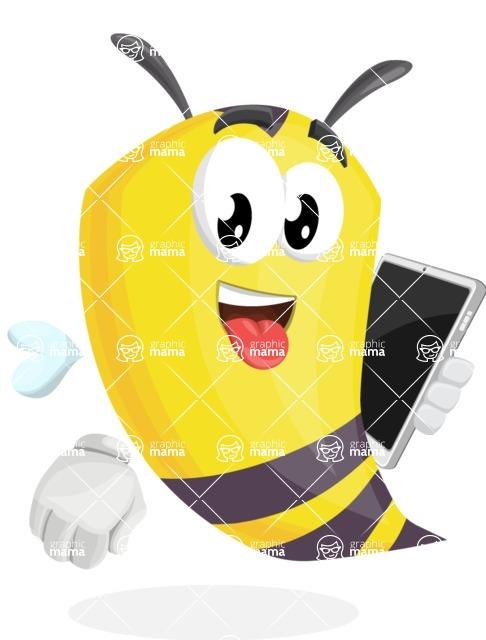 Bee Cartoon Vector Character AKA Mr. Bee Busy - iPad3