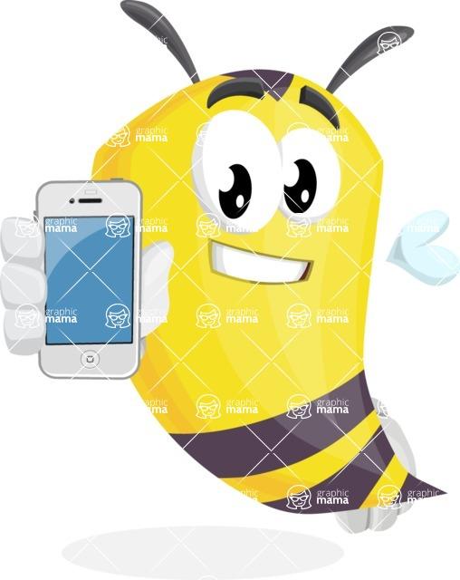 Bee Cartoon Vector Character AKA Mr. Bee Busy - iPhone