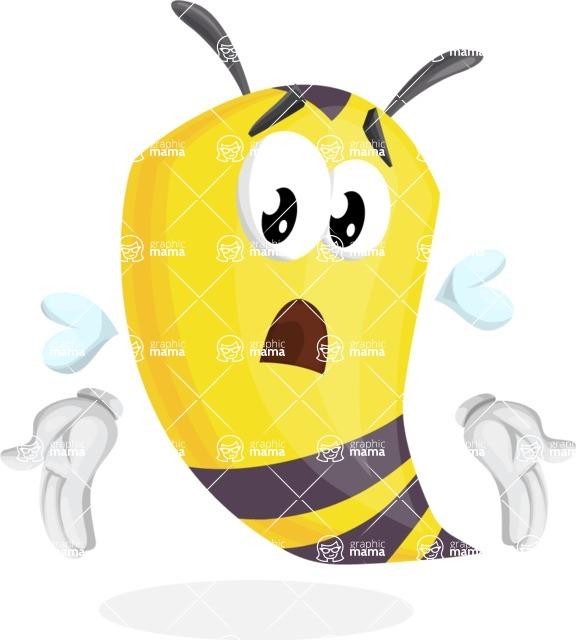 Bee Cartoon Vector Character AKA Mr. Bee Busy - Lost