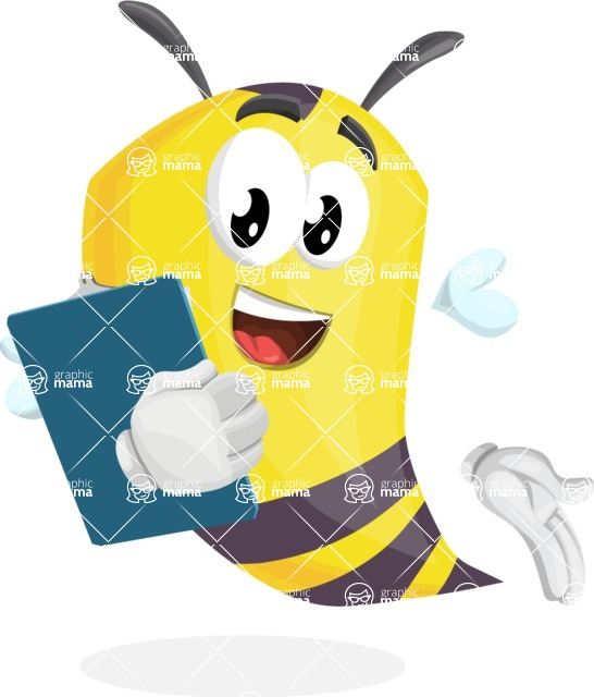 Bee Cartoon Vector Character AKA Mr. Bee Busy - Notepad 2