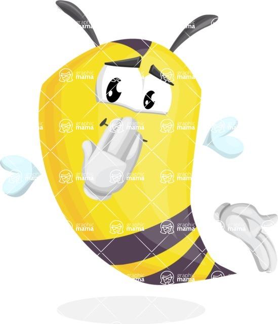 Bee Cartoon Vector Character AKA Mr. Bee Busy - Oops