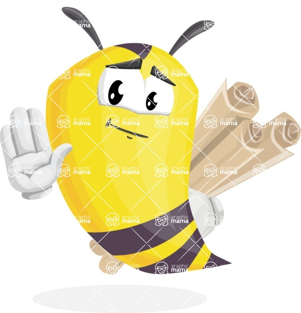 Bee Cartoon Vector Character AKA Mr. Bee Busy - Plans