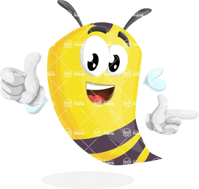 Bee Cartoon Vector Character AKA Mr. Bee Busy - Point2