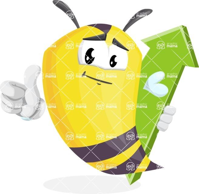 Bee Cartoon Vector Character AKA Mr. Bee Busy - Pointer 1