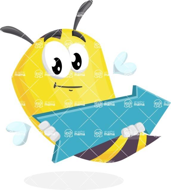 Bee Cartoon Vector Character AKA Mr. Bee Busy - Pointer 2