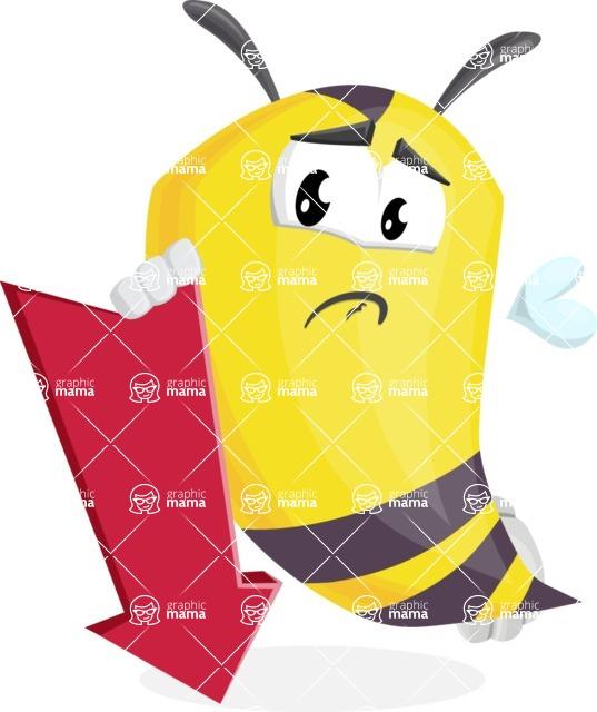 Bee Cartoon Vector Character AKA Mr. Bee Busy - Pointer 3