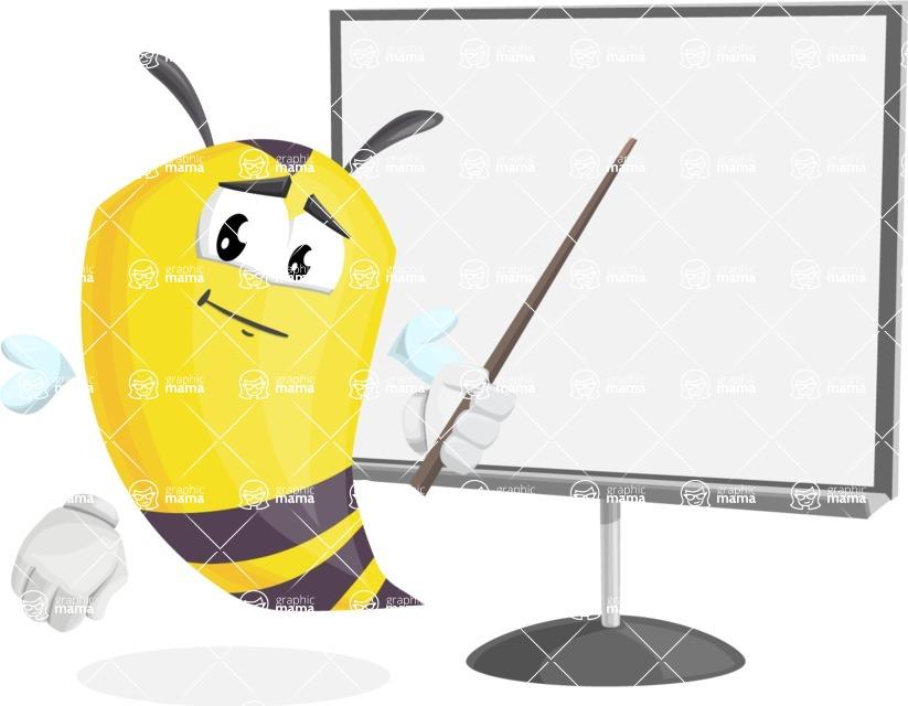 Bee Cartoon Vector Character AKA Mr. Bee Busy - Presentation 2