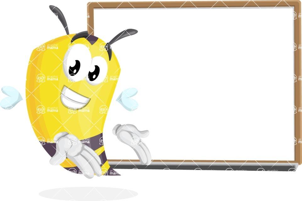 Bee Cartoon Vector Character AKA Mr. Bee Busy - Presentation 3