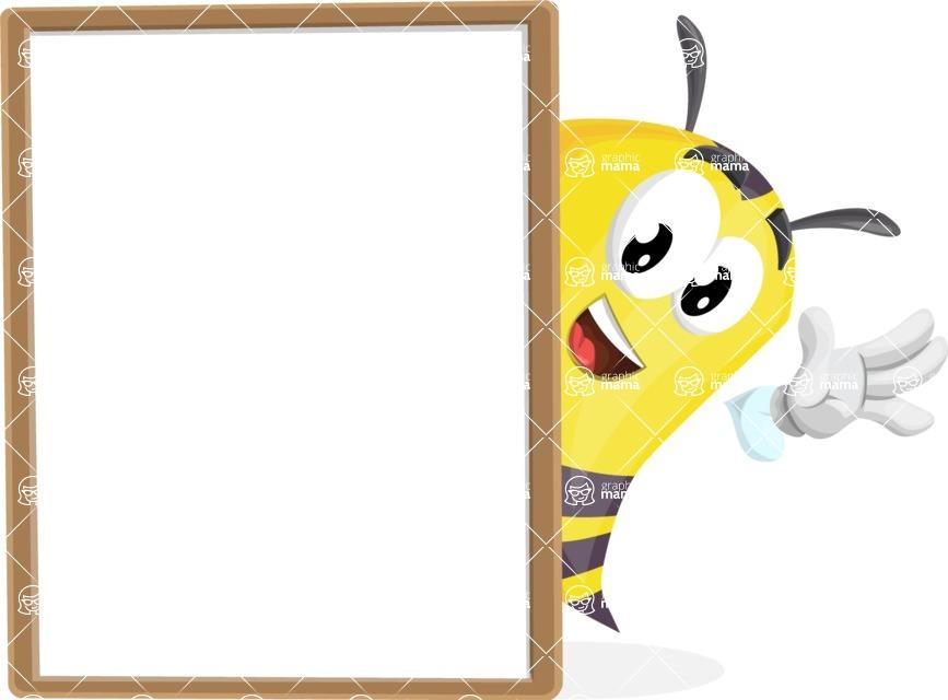 Bee Cartoon Vector Character AKA Mr. Bee Busy - Presentation 4