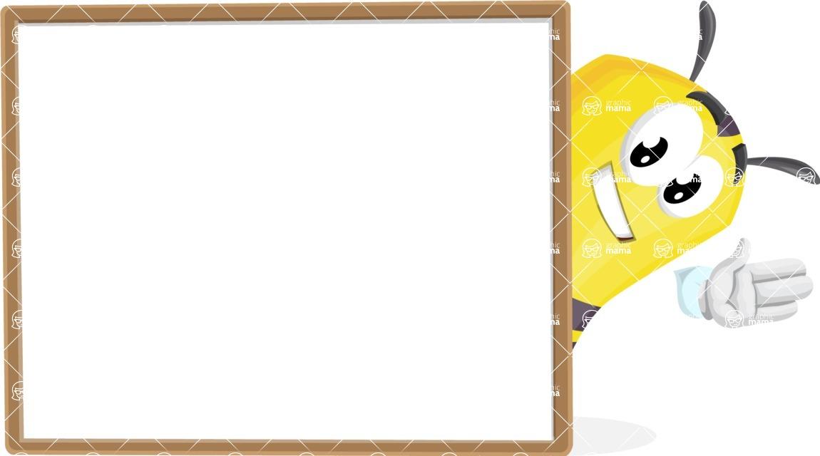 Bee Cartoon Vector Character AKA Mr. Bee Busy - Presentation 5